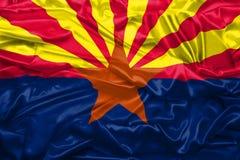 Bandera del estado de Arizona de los Estados Unidos de Am?rica en textura de seda suave y lisa libre illustration