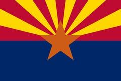 Bandera del estado de Arizona, vector de los E.E.U.U. stock de ilustración