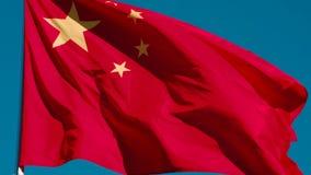 Bandera del estado de China almacen de metraje de vídeo