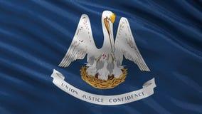 Bandera del estado de los E.E.U.U. de Luisiana - lazo inconsútil ilustración del vector