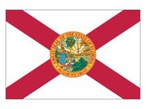 Bandera del estado de los E.E.U.U. de la Florida ilustración del vector