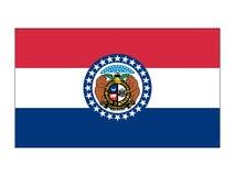 Bandera del estado de los E.E.U.U. de Missouri stock de ilustración