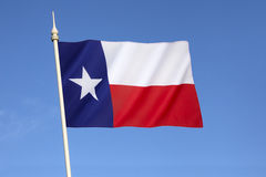 Bandera del estado de Tejas - los Estados Unidos de América foto de archivo