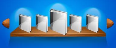 Bandera del estante del vector con los libros. Web ilustración del vector