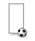 Bandera del fútbol Imagenes de archivo