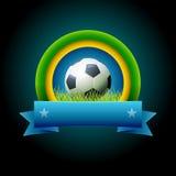 Bandera del fútbol Fotografía de archivo