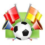 Bandera del fútbol Imagen de archivo