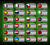 Bandera del fútbol de Europa Imagenes de archivo