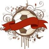 Bandera del fútbol de Grunge Foto de archivo libre de regalías