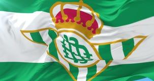 Bandera del fútbol de Real Betis que agita en el viento, lazo