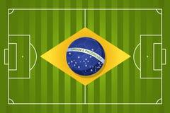Bandera 2014 del fútbol del Brasil Fotografía de archivo libre de regalías
