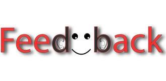 Bandera del feedback del vector Fotos de archivo libres de regalías