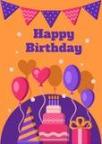 Bandera del feliz cumpleaños fotografía de archivo libre de regalías