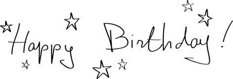 Bandera del feliz cumpleaños imágenes de archivo libres de regalías