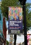 Bandera del festival de cine de Montclair Foto de archivo libre de regalías