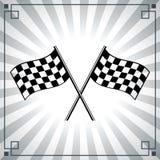 Bandera del final Imagen de archivo libre de regalías