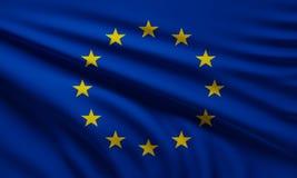 Bandera del fondo 3d-illustration de Europa Stock de ilustración