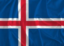 Bandera del fondo de Islandia stock de ilustración