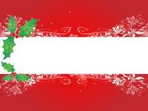 Bandera del fondo de la Navidad Imagenes de archivo