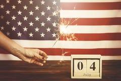 Bandera del fondo de los Estados Unidos de América para la celebración federal nacional del día de fiesta del Día de la Independe fotos de archivo libres de regalías