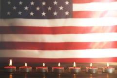 Bandera del fondo de los Estados Unidos de América para la celebración federal nacional de los días de fiesta y el día de luto de Imagen de archivo