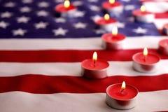 Bandera del fondo de los Estados Unidos de América para la celebración federal nacional de los días de fiesta y el día de luto de Foto de archivo libre de regalías