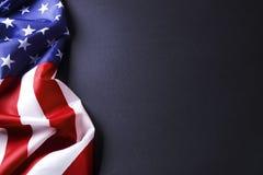 Bandera del fondo de los Estados Unidos de América para la celebración federal nacional de los días de fiesta y el día de luto de foto de archivo