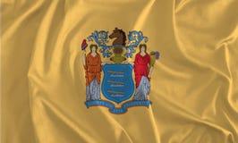 Bandera del fondo de New Jersey, el estado jardín libre illustration