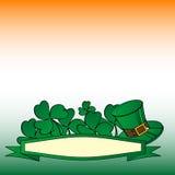 Bandera del fondo del St Patrick Imagen de archivo libre de regalías