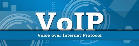 Bandera del fondo del tema del negocio de Voip Fotografía de archivo libre de regalías