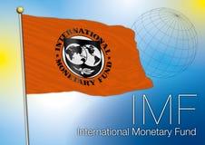 Bandera del Fondo Monetario Internacional, editorial Imagen de archivo libre de regalías