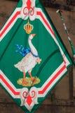 Bandera del ganso de Siena Fotos de archivo libres de regalías