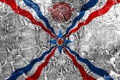 Bandera del grunge del Assyria, bandera dependiente del territorio fotografía de archivo libre de regalías