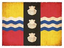Bandera del Grunge de Bedfordshire Gran Bretaña Fotos de archivo