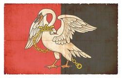 Bandera del Grunge de Buckinghamshire Gran Bretaña Fotografía de archivo libre de regalías