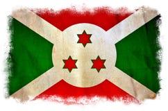 Bandera del grunge de Burundi stock de ilustración