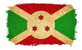 Bandera del grunge de Burundi ilustración del vector