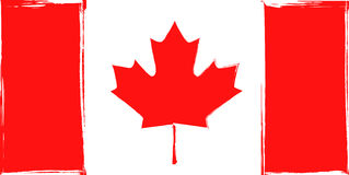 Bandera del Grunge de Canadá Fotografía de archivo