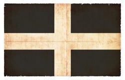 Bandera del Grunge de Cornualles Gran Bretaña Foto de archivo