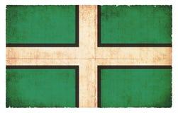 Bandera del Grunge de Devon Great Britain stock de ilustración