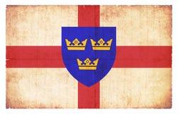 Bandera del Grunge de East Anglia Gran Bretaña libre illustration