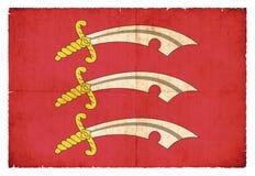 Bandera del Grunge de Essex Gran Bretaña Foto de archivo