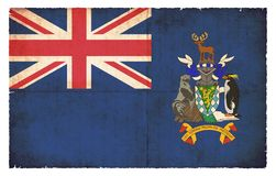Bandera del Grunge de Georgia del sur y de las islas de bocadillo del sur Gre Fotos de archivo libres de regalías