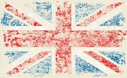 Bandera del Grunge bandera de Gran Bretaña, Reino Unido Con textura del grunge Vector libre illustration
