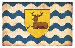 Bandera del Grunge de Hertfordshire Gran Bretaña Fotos de archivo