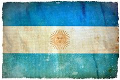 Bandera del grunge de la Argentina stock de ilustración