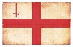 Bandera del Grunge de la ciudad de Londres Gran Bretaña Fotografía de archivo