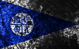Bandera del grunge de la ciudad de Minneapolis, estado de Minnesota, Estados Unidos de A ilustración del vector