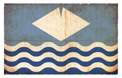 Bandera del Grunge de la isla del Wight Gran Bretaña Imagenes de archivo