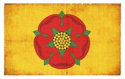 Bandera del Grunge de Lancashire Gran Bretaña Imágenes de archivo libres de regalías